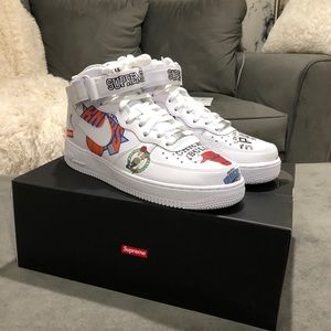 Supreme Nike Airforce 1 mid NBA